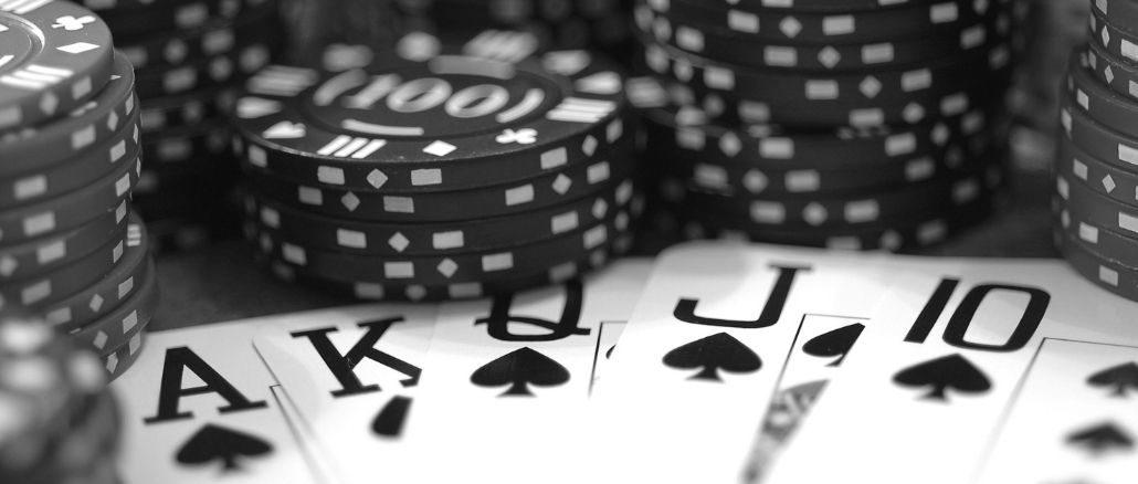 poker noir et blanc